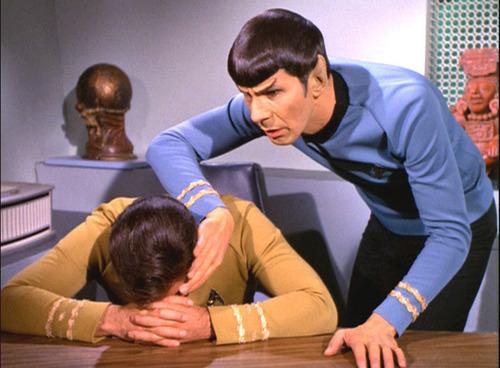 Captain Kirk in ''Requiem for Methuselah''