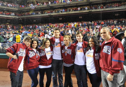 Cast Singing @ Major League Baseball World Series