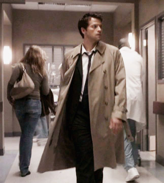 Castiel wallpaper with a trench cappotto entitled Castiel