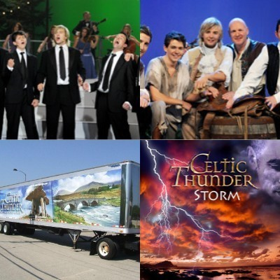 Damian McGinty wallpaper containing a business suit called Celtic Thunder STORM collage