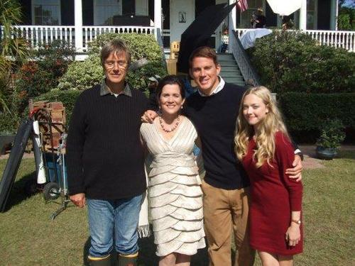 Channing Tatum,Amanda Seyfried,Lasse Hallstrom and Mary Rachel Dudley