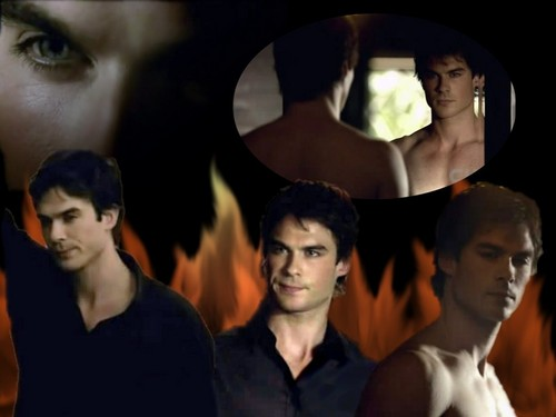 Damon Wallpaper - damon-salvatore Wallpaper