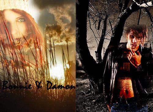 Damon and Bonnie - wallpaper