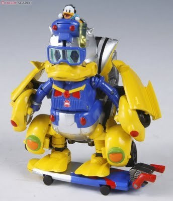 Donald ente Transformer Transformed in to SuperHero