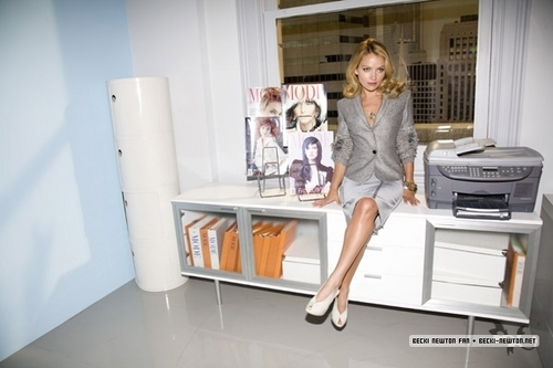 Becki Newton wallpaper possibly with a living room, a family room, and a kitchen called Elle Magazine