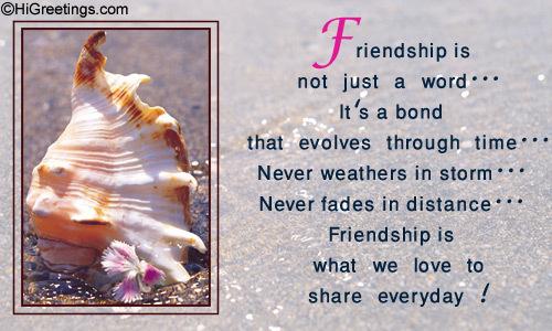 Friendship is और than a word