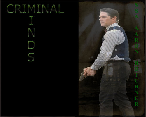 SSA Aaron Hotchner wallpaper with a sign called HOTCHNER