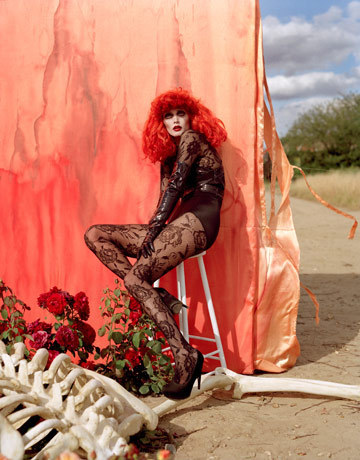 Harpers Bazaar Photoshoot Styled by Tim Burton