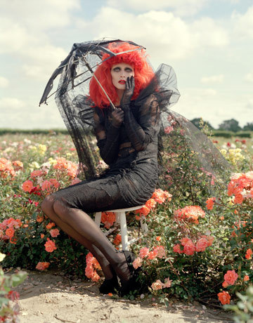 Harpers Bazaar Photoshoot Styled দ্বারা Tim burton