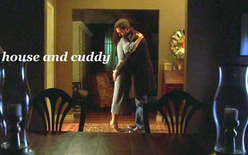 Huddy wallpaper with a living room, a family room, and a parlor titled House/Cuddy