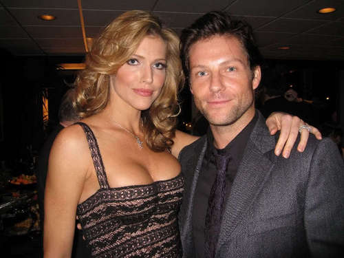 Jamie Bamber and Tricia Helfer