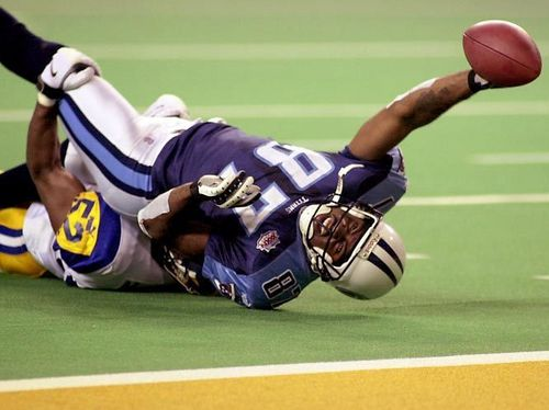 Kevin Dyson tackled at the 1 yard line