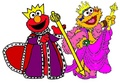 King Elmo and Queen Zoe
