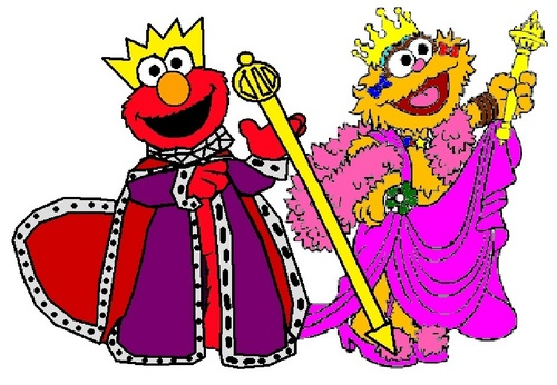 King Elmo and reyna Zoe