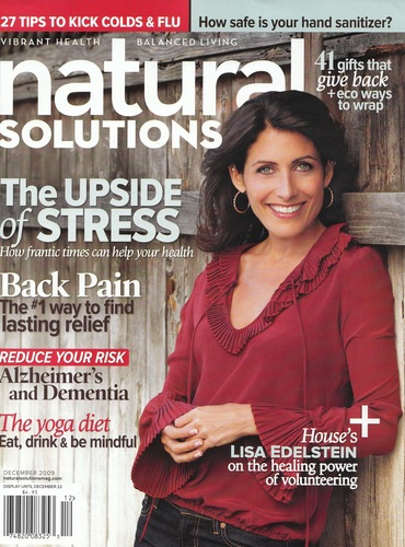 Lisa's cover of Natural Solutions December 2009