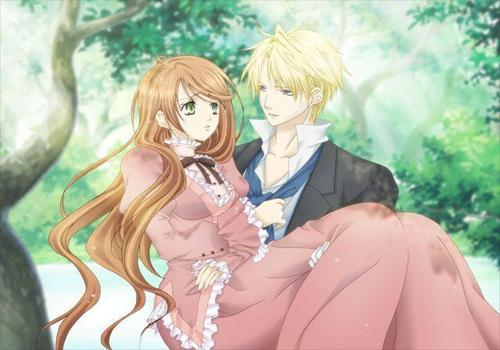Hakushaku to Yousei 壁纸 titled Lydia and Edgar