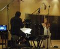Mairead recording Tinker Bell soundtrack - celtic-woman photo