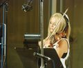 Mairead recording Tinker Bell soundtrack