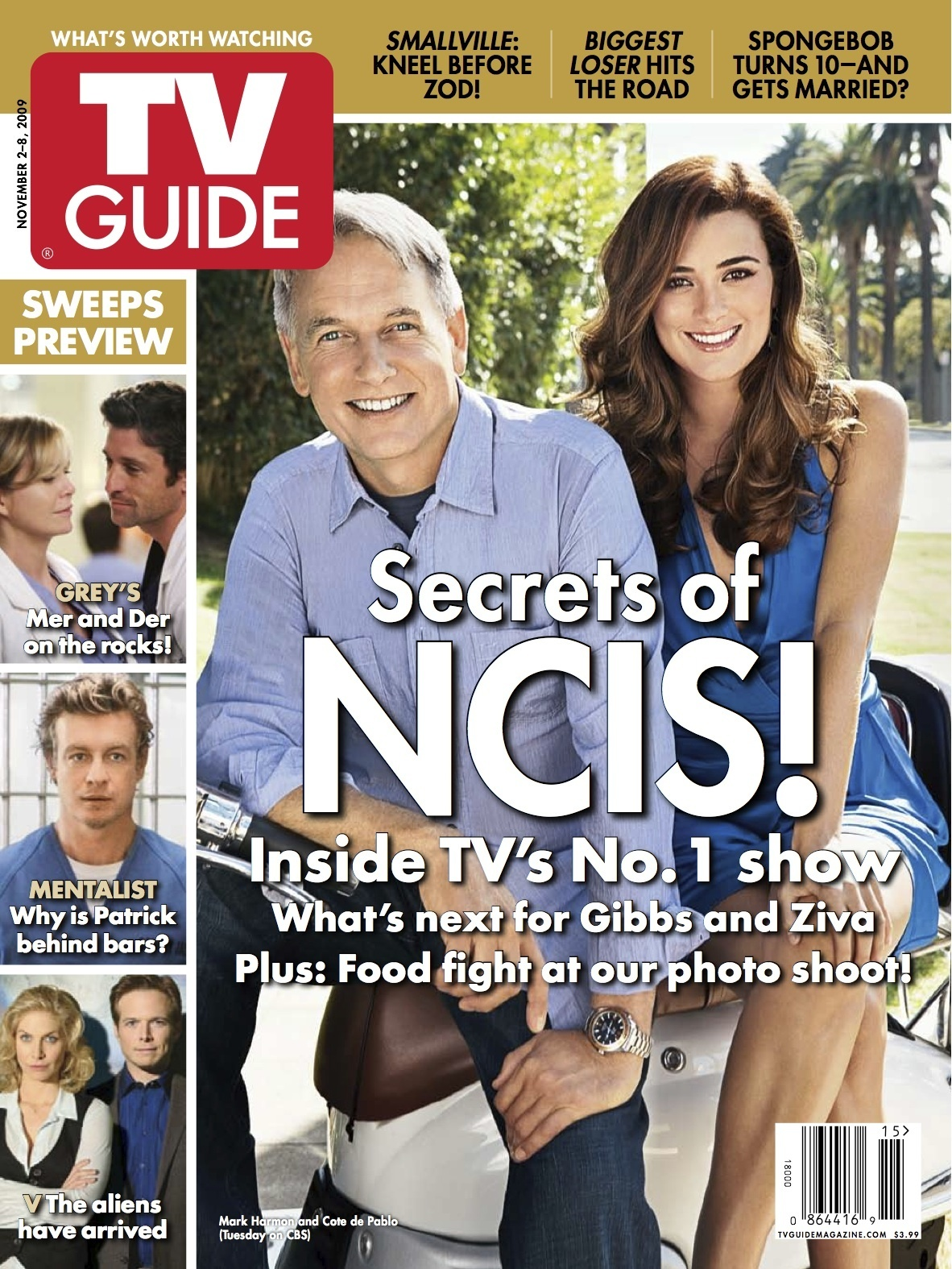 NCIS Mark Harmon and Cote de Pablo TVGuide Magazine