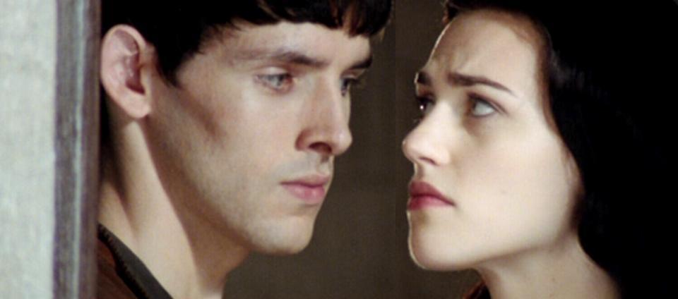 Merlin And Morgana Kiss Merlin and Morgana