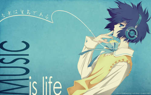 Music is life - anime-music Photo