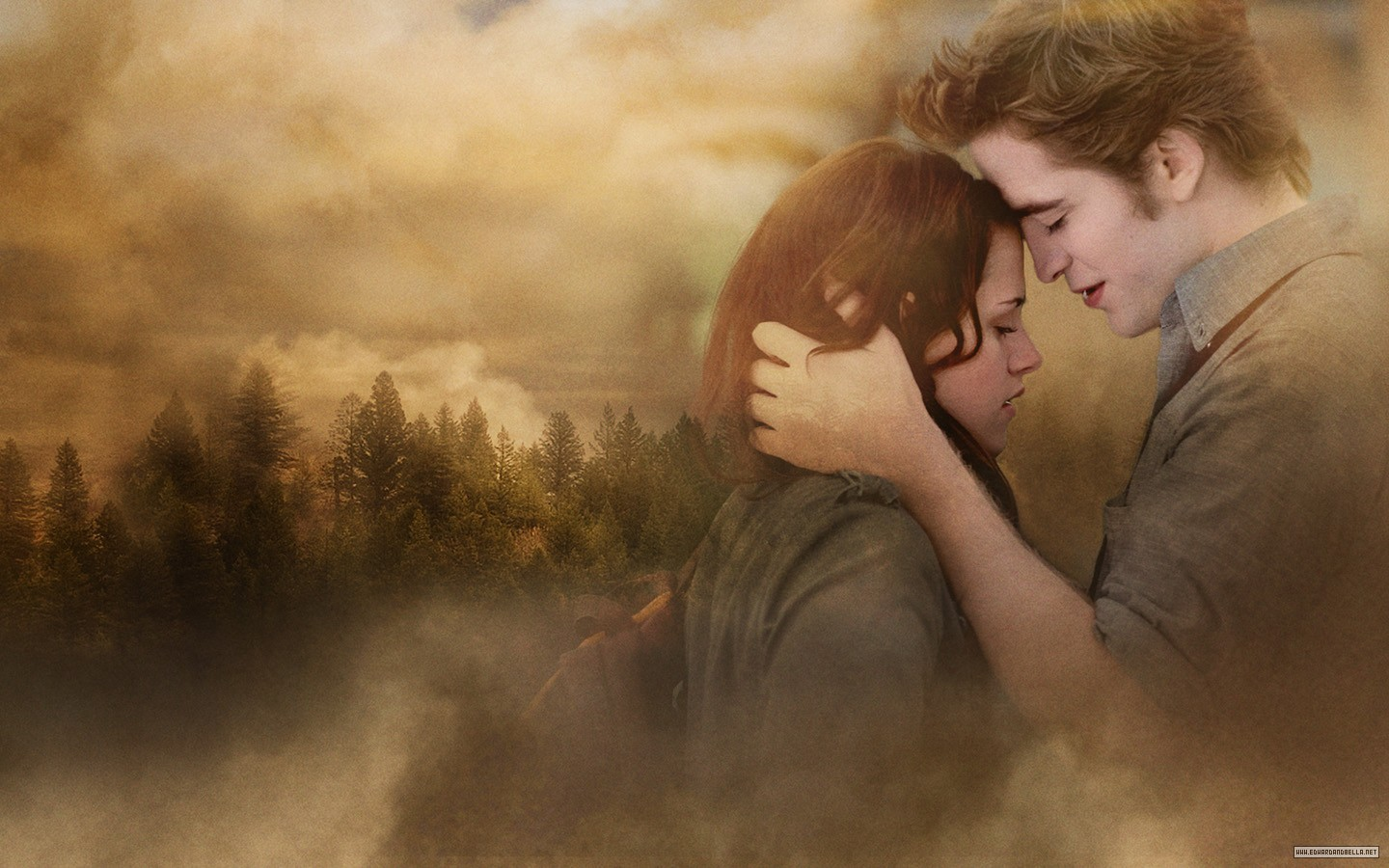 new moon official wallpapers edward and bella wallpaper
