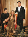 New emmy backstage pic! - jim-parsons-and-kaley-cuoco photo