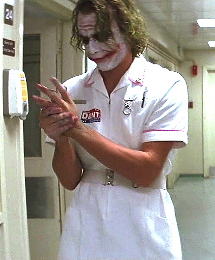 Heath Ledger Joker Nurse The Joker Nurse Joker
