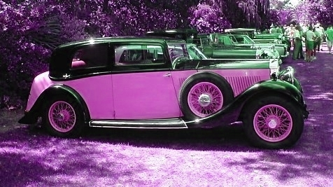 Painted Rolls Royce for Sylvie