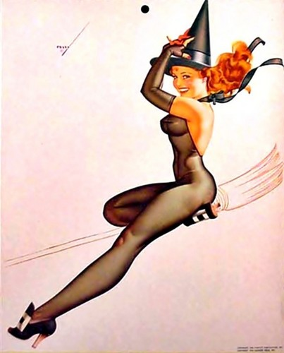 Pin Up Girls wallpaper probably containing a swimsuit, a bikini, and attractiveness called Pin Up Halloween