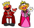 Prince Elmo and Princess Zoe - sesame-street fan art