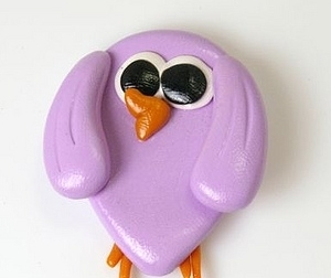 Purple Birdy English Teacher for Sylvie