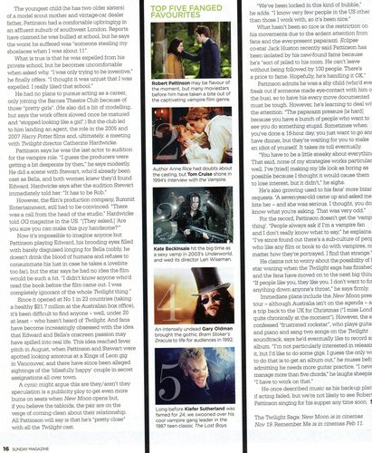 R.Pattz - Sunday Herald Mag Scans (Australia)