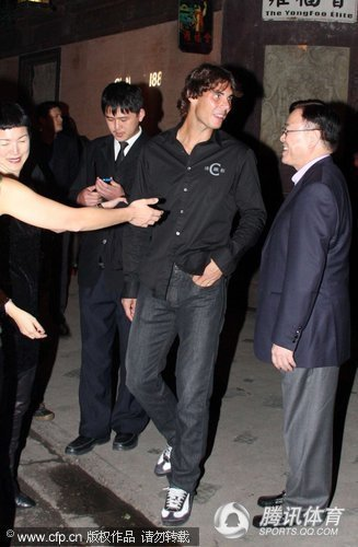 RAFAEL NADAL of Spain attends a fashion party of Cerruti 1881 in Shanghai of China.