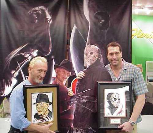 Robert Englund(Freddy) and Ken Kirzinger(Jason)