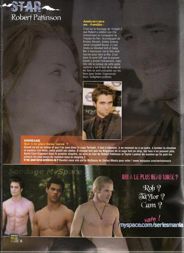 Robert Pattinson in Series Mania Magazine