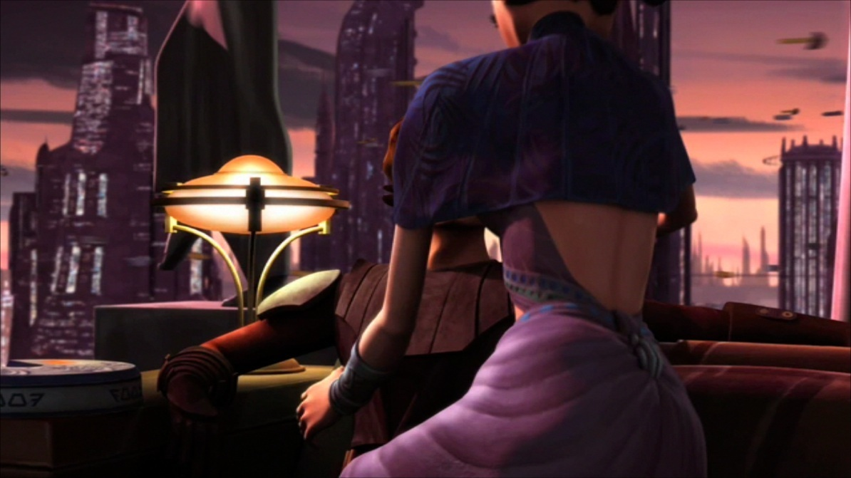 SW: The Clone Wars ep 2x04: Senate Spy - Anakin & Padmé