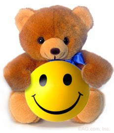Smiley Teddy urso for Sylvie