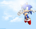 Sonic in the sky - sonic-the-hedgehog wallpaper