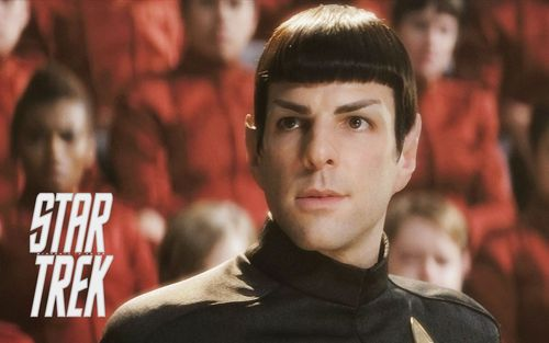 Zachary Quinto wallpaper probably with an outerwear, a leisure wear, and a tabard entitled Spock from Zachary Quinto