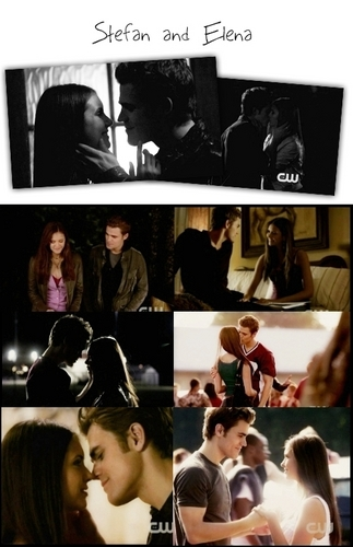 Television & Movie Couples wallpaper possibly with anime entitled Stefan & Elena <3