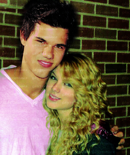Taylor Lautner and Taylor Swift wallpaper containing a portrait entitled T/T Manip