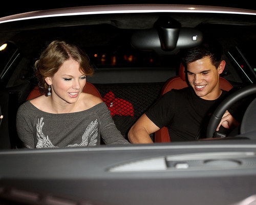 Taylor Lautner and Taylor Swift wallpaper containing an automobile called Taylor & Taylor Date Night