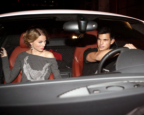 Taylor Lautner and Taylor Swift wallpaper containing an automobile entitled Taylor & Taylor Date Night