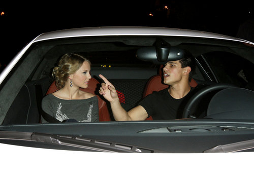 Taylor Lautner and Taylor Swift wallpaper with an automobile called Taylor & Taylor Date Night