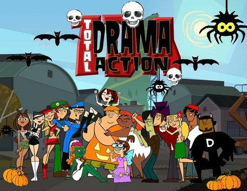 Total Drama Island Hintergrund probably with Anime called Total Drama Halloween