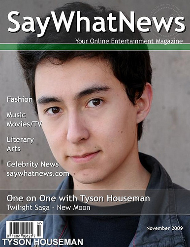 Tyson Houseman Magazine Cover