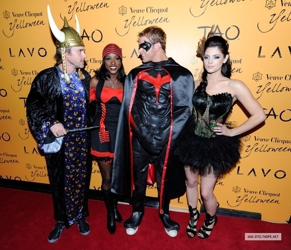 Veuve Clicquots Yelloween At Tao & Lavo (October 31) - ashley-greene-and-kellan-lutz Photo