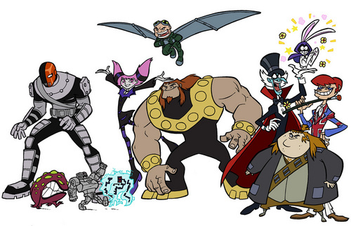 Teen Titans wallpaper with anime entitled Villains