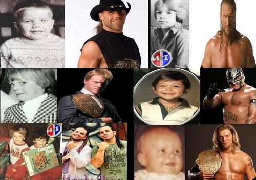 डब्ल्यू डब्ल्यू ई Wrestlers-Then and Now